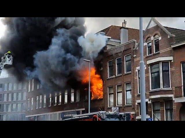 Brand Rotterdam Nederland