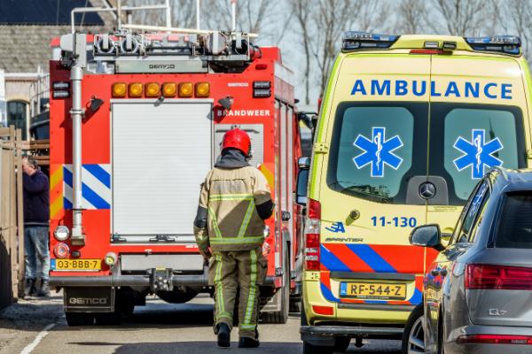 Middelbrand In Wognum Op Westeinderweg